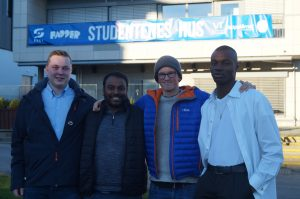 On the picture above are representatives from each of the lists. From the left: Philip Jamissen, Rhys Ole Temple, Jakob Ryen and Lawrence Dean Mulbah